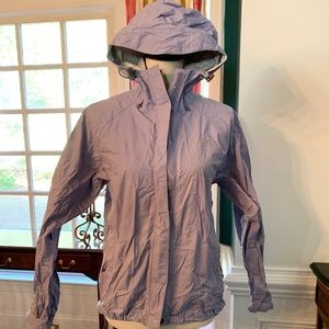 The North Face Size S/P Lilac Hooded Raincoat